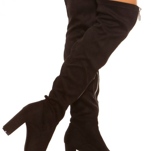 Cierne cizmy nad kolena