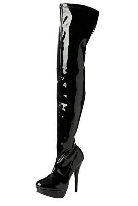 Lakovane cizmy nad kolena