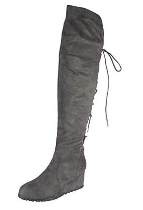 Sive cizmy nad kolena