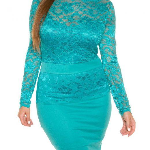 Zafírové šaty pre moletky