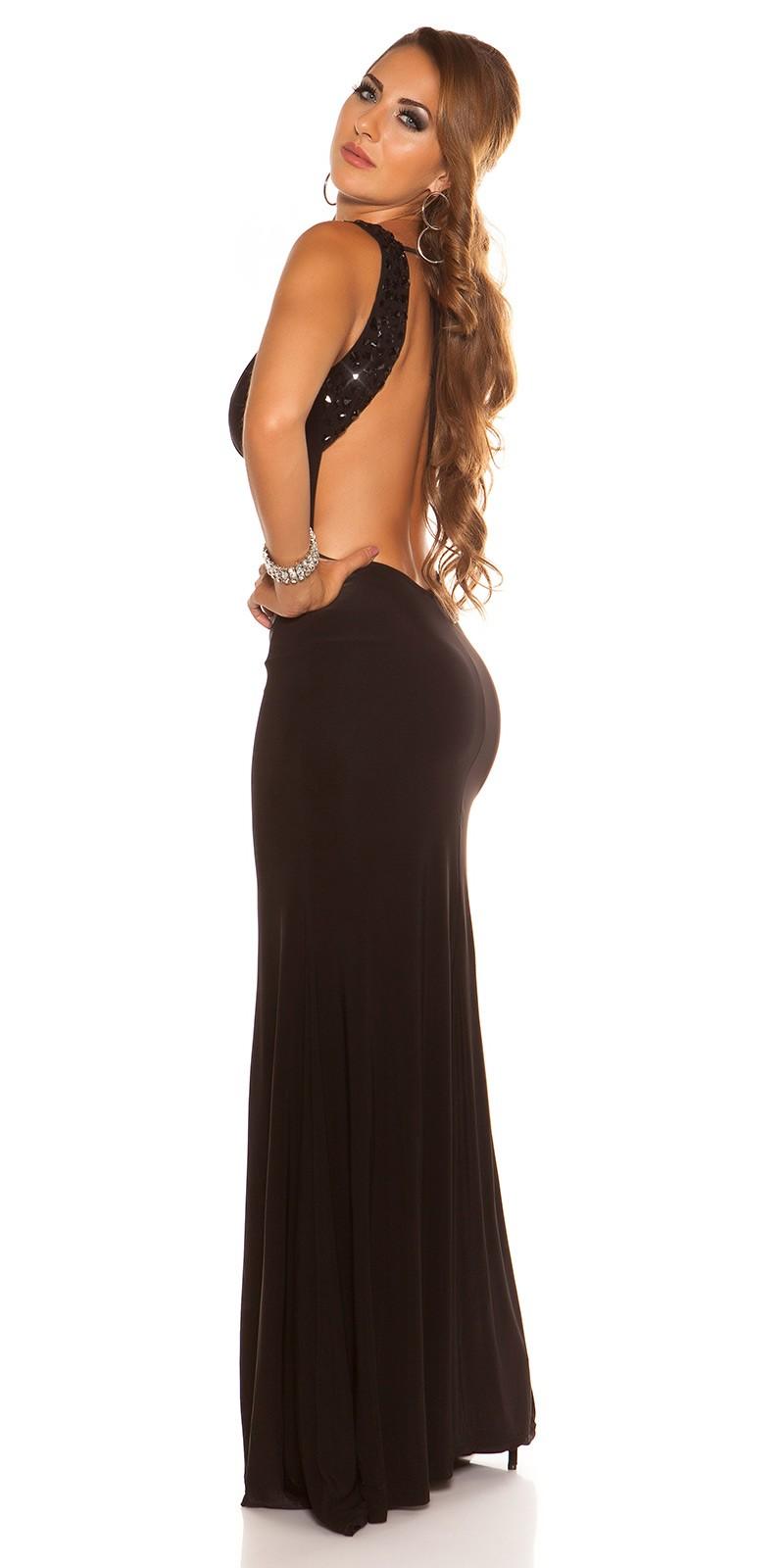 d91642dfe2a7 ooKouCla gown backless with Rhinstones  Color BLACK Size Einheitsgroesse 0000K18272-N SCHWARZ 17  · Dlhe spolocenske saty s odhalenym chrbtom