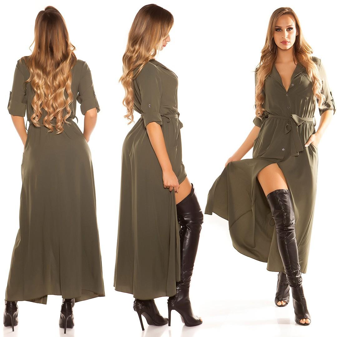 oolong blouse dress with button strip  Color KHAKI Size Einheitsgroesse 0000K9796 KHAKI 15  · Khaki dlhe saty na gombiky 51de9035c9c