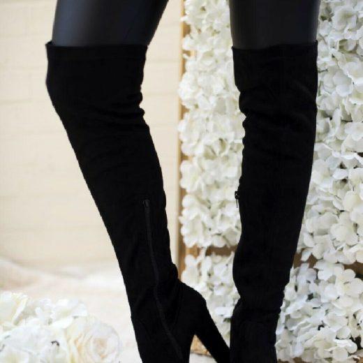 Semisove cizmy nad kolena