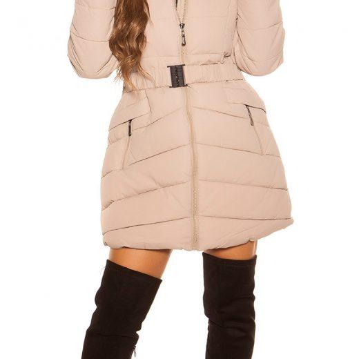 Dlha zimna bunda s opaskom
