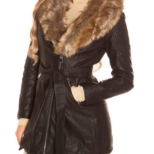 Zimna kozena bunda s kozusinou