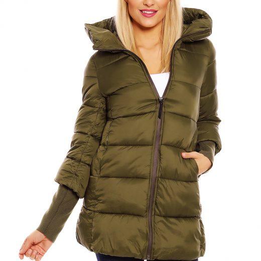 4cf3a7b0f8e8 Khaki damska zimna bunda