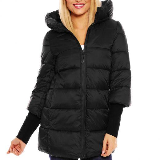 Damska cierna zimna bunda