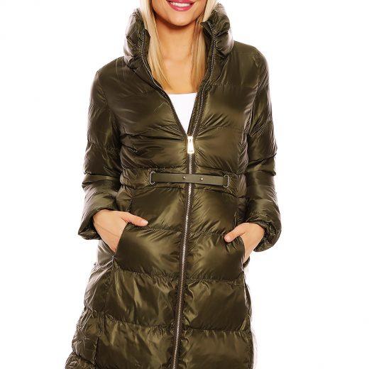 Khaki dlha zimna bunda damska