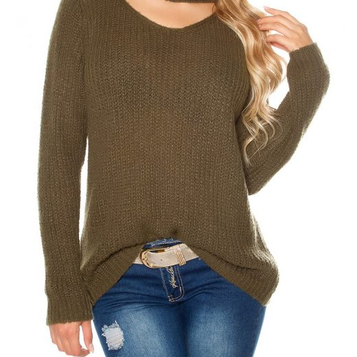 Damsky sveter v khaki farbe