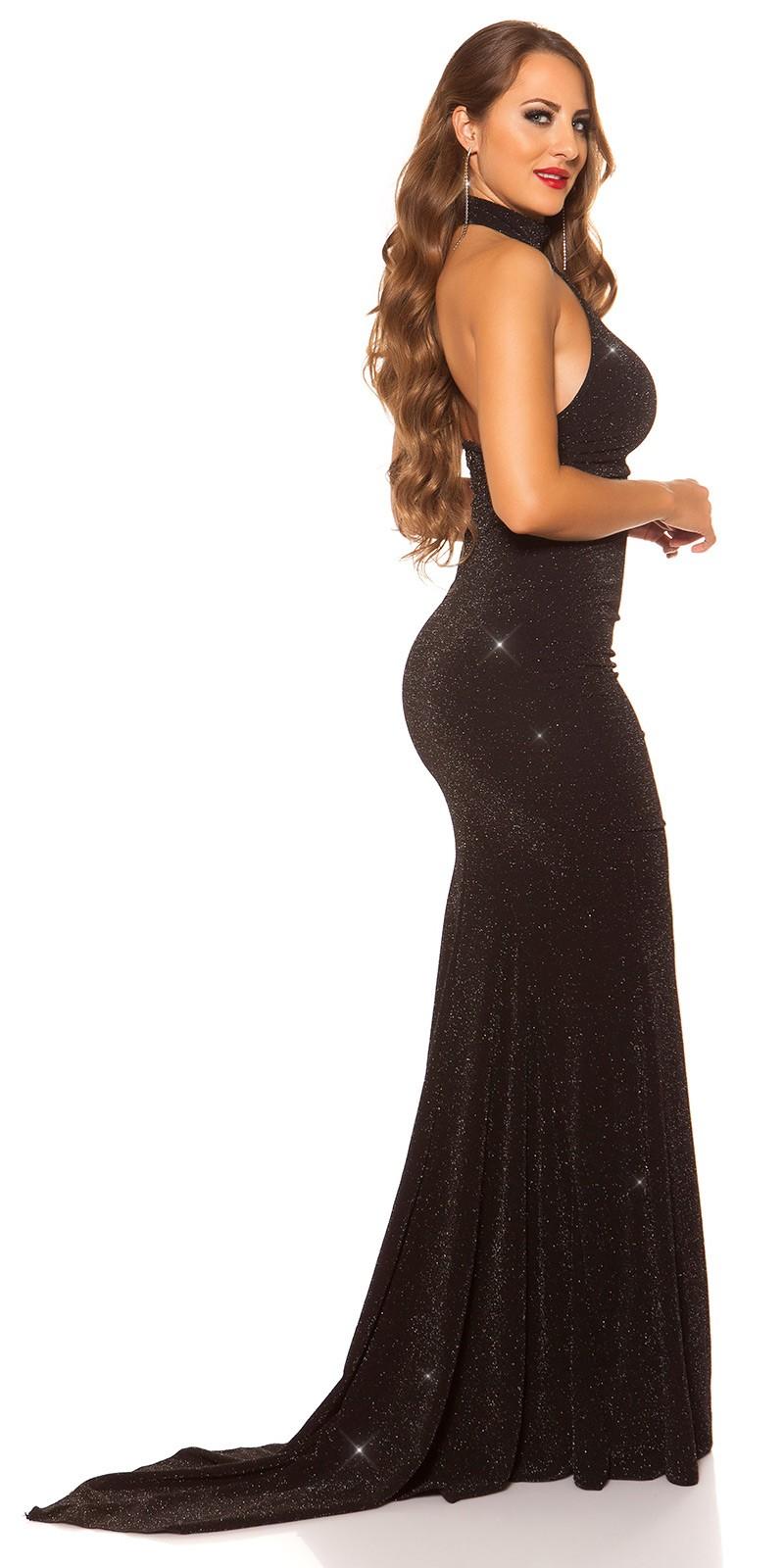 faadf662c41c eeRed-Carpet KouCla Neck-Gown with glitter  Color BLACKSILVER Size M 0000K080414 SCHWARZSILBER 23