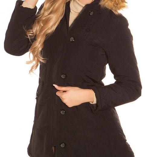 Zimna bunda zateplena kozusinou