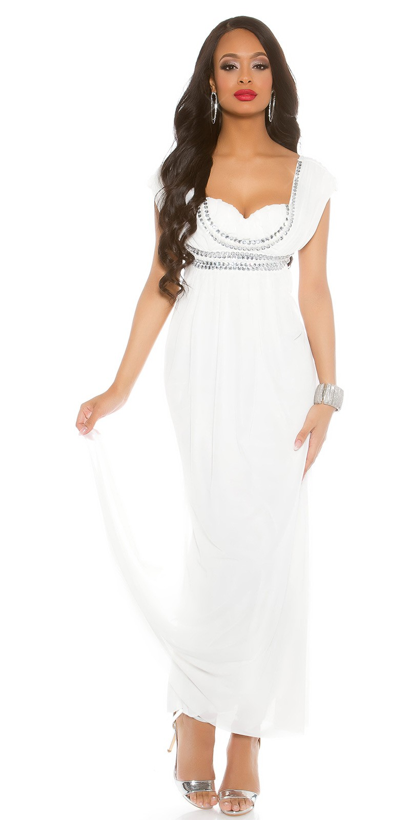 691e6d6056e4 aaCarpet Look Sexy KouCla dress  rhinestones  Color WHITE Size XL 0000K9140 WEISS 20 1  · Biele dlhe spolocenske saty