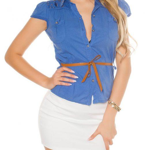 Modra bluzka s opaskom