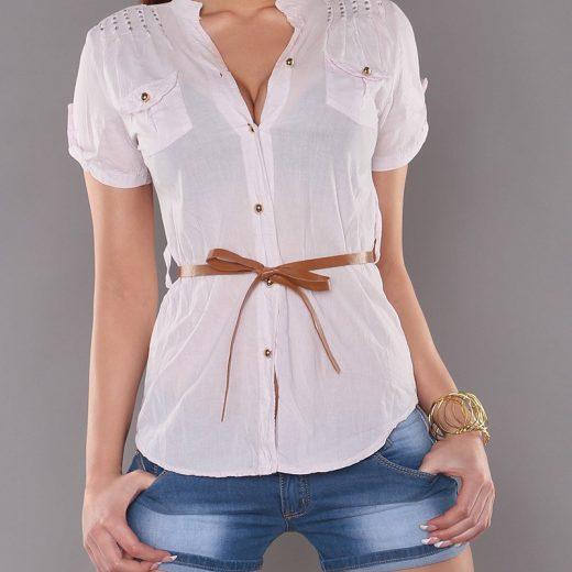 Ruzova bavlnena bluzka