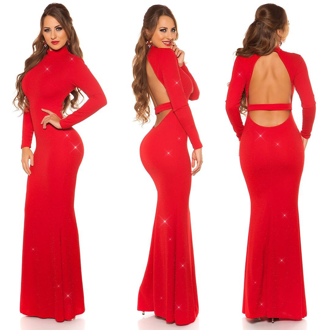 84542aaad0ce Nádherné dlhé spoločenské šaty KouCla Red – Sissy Boutique