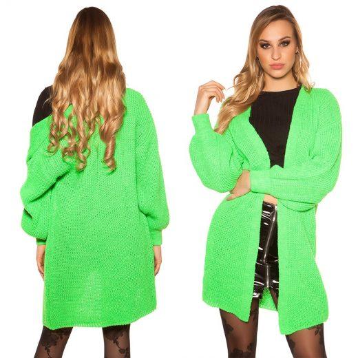 Neonovo zeleny kardigan