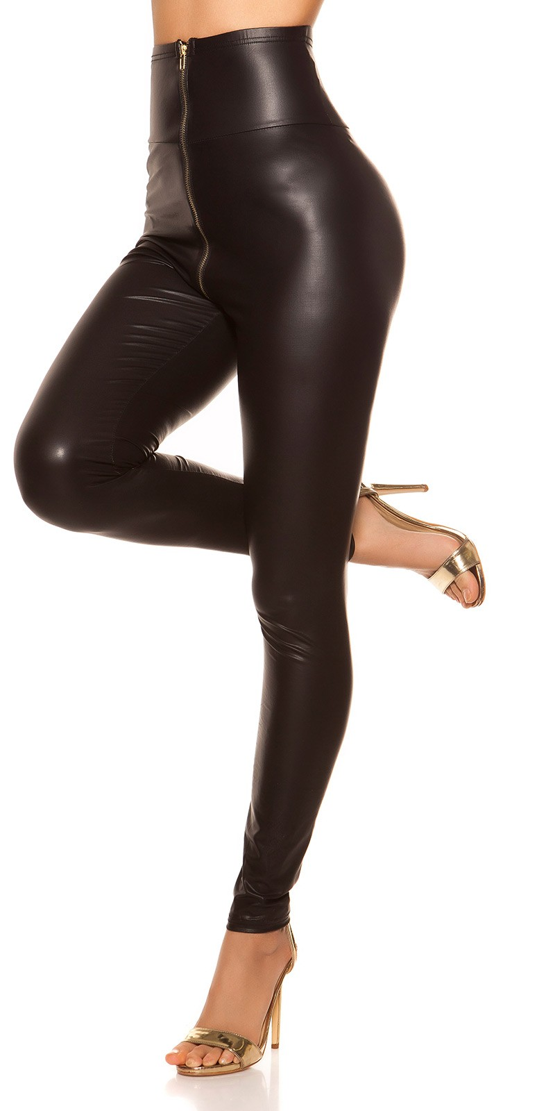 dbe291f05786 ooKouCla High Waist Wetlook Leggings  Color BLACK Size S 0000IN5052811 SCHWARZ 23