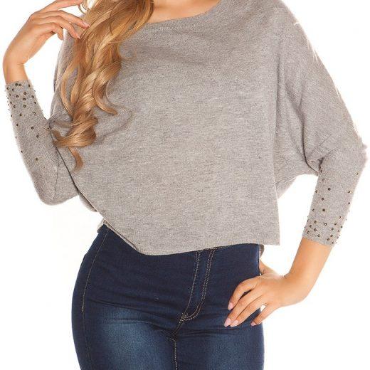 Sedy crop pulover