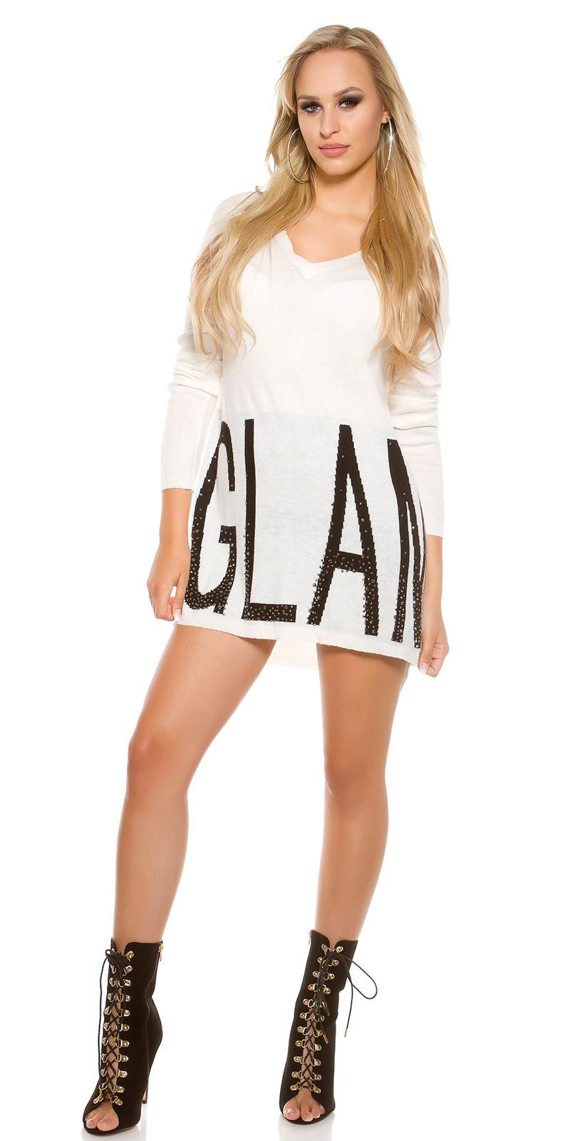 pantofi cei mai buni prețuri incredibile vânzare Statele Unite online Oversize pulóver KouCla Glam White – Sissy Boutique