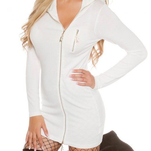Biely damsky pulover