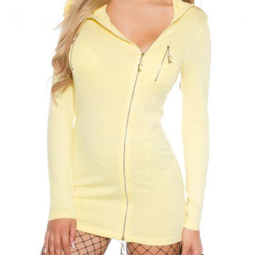 Zlty damsky pulover