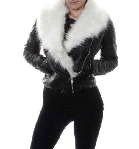 d8a7ca562586 Zateplená kožená bunda s kožušinou Black White – Sissy Boutique