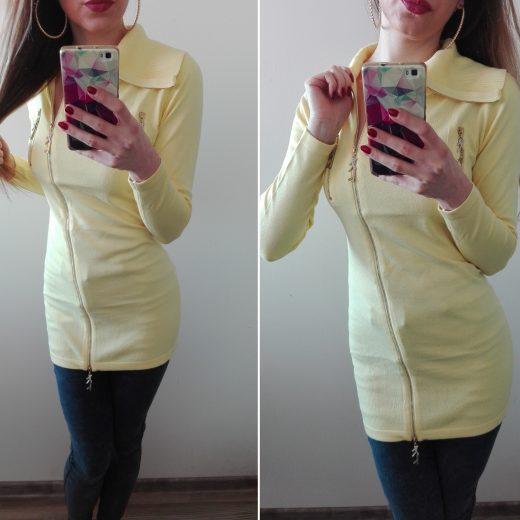 Damsky pulover zltej farby