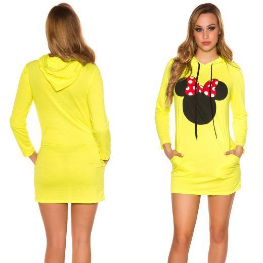 Mikina Mickey Mouse neonovozlta