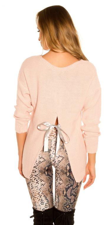 Damsky pulover ruzovej farby