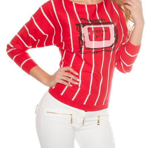 Pruzkovany damsky pulover