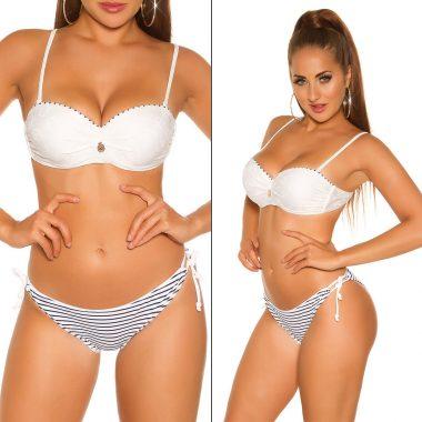 Biele namornicke dvojdielne plavky