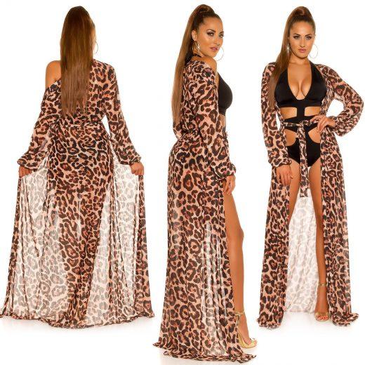 Prehoz na plavky leopardi motiv