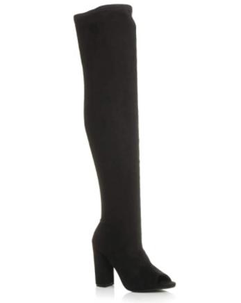 Semisove cizmy nad kolena s otvorenou spickou