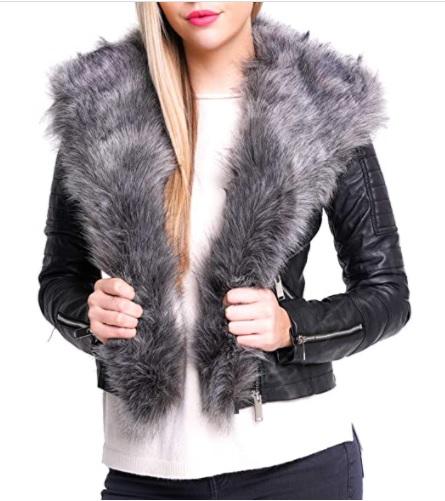 Kozena bunda s kozusinou na golieri
